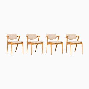 Sedie da pranzo di Kai Kristiansen per Schou Andersen, anni '60, set di 4