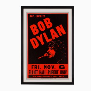 Póster del concierto de Bob Dylan en EE.UU., 1981