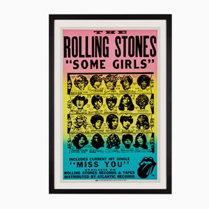 Poster di 'Some Girls' dei Rolling Stones, 1978