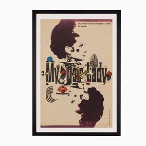 Affiche Tchèque My Fair Lady par Zdeněk Kaplan, 1967