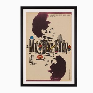 Czech My Fair Lady Poster by Zdeněk Kaplan, 1967
