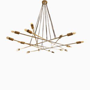 Lámpara de araña Free-Form de 8 brazos de Stilnovo, años 60