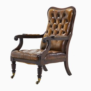 19th Century Leather Chair