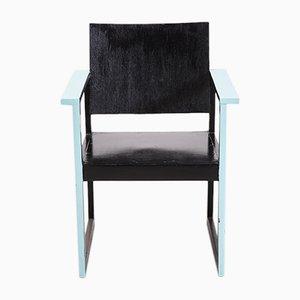 Black Bauhaus Armchair, 1950s