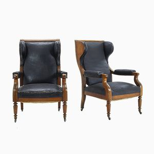 19th-Century Grand Scale French Armchairs, Set of 2
