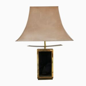 Gilt Metal & Lacquer Table Lamp, 1970s