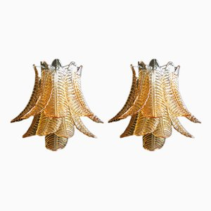 Applique vintage in vetro di Murano, anni '80, set di 2