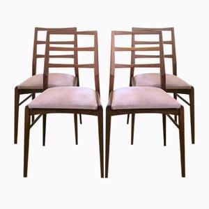 Mid-Century Stühle aus Afrormosia von Richard Hornby für Fyne Ladye, 4er Set