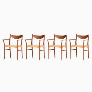 Dining Chairs by Ejnar Larsen & Aksel Bender Madsen, 1960s, Set of 4