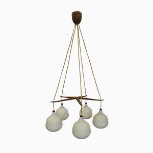 Lámpara de araña de Luxus, años 60