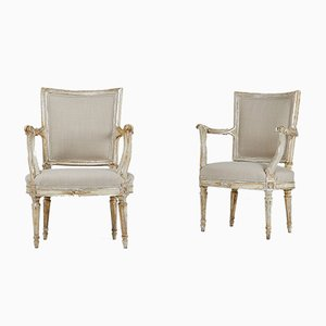18th Century Silver Gilt Chairs, Set of 2