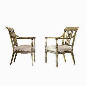 Chaises Peintes Vintage, Set de 2