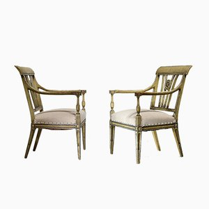 Lackierte Vintage Stühle, 2er Set