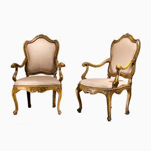 Italienische Stühle, 18. Jh., 2er Set