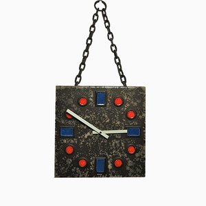Brutalist Ceramic Wall Clock from Kienzle, 1980s