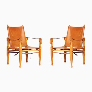 Safari Lounge Chairs by Wilhelm Kienzle for Wohnbedarf, 1950s, Set of 2