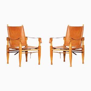 Safari Sessel von Wilhelm Kienzle für Wohnbedarf, 1950er, 2er Set