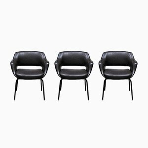 Model 1106/3 Chairs by Olli Mannermaa for Cassina, 1950s, Set of 3