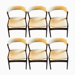 Dänische Fire Stühle von Kai Kristiansen für Schou Andersen, 1960er, 6er Set