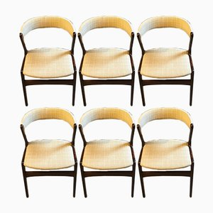 Danish Fire Chairs by Kai Kristiansen for Schou Andersen, 1960s, Set of 6