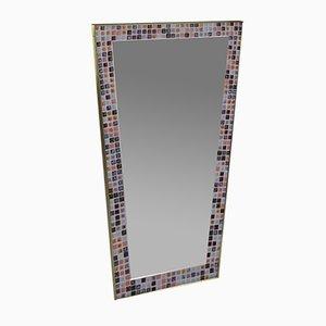 Mid-Century Spiegel mit Mosaikrahmen