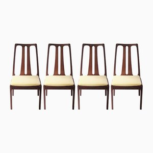 English Teak Chairs, 1970s, Set of 4