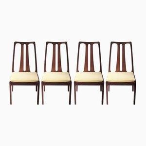 English Teak Chairs, 1970s, Set of 4