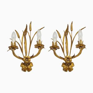 Vintage Wheat Sconces by Hans Kögl, 1960s, Set of 2