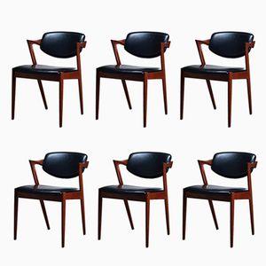 Teak Z Chairs by Kai Kristiansen, 1960s, Set of 6