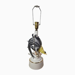 Porcelain Bird of Paradise Lamp, 1930s