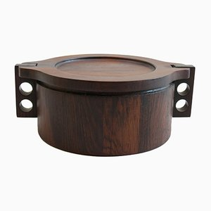 Mid-Century Rosewood Pot by Birgit Krogh for Woodline Denmark, 1960s