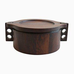 Mid-Century Rosewood Pot by Birgit Krogh for Woodline Denmark, 1960s