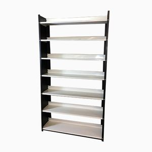 Black and White Enameled Steel Bookcase from Tomado, 1960s
