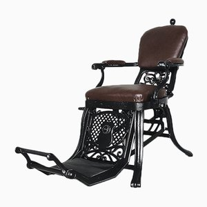 Sedia da barbiere antica industriale regolabile