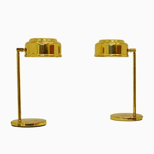 Scandinavian Modern Brass Table Lamps, 1960s, Set of 2