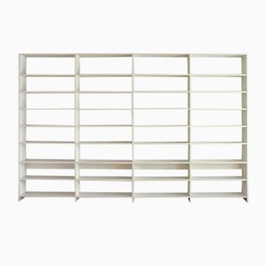 Large White Bookshelf by Ulrich P. Wieser for Wohnbedarf, 1980s