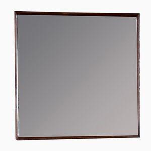 Espejo danés vintage con marco de teca