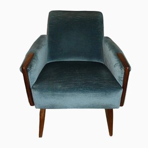 Soft Blue Lounge Chair, 1960s