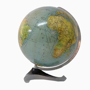 Vintage Illuminated Globe from Columbus Oestergaard