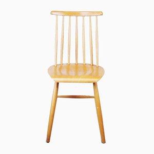 Vintage Beistellstuhl aus Holz, 1960er