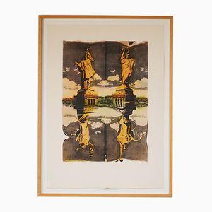 Vintage Lithographie der Freiheitsstatue von Pol Bury, 1991