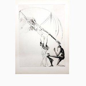 Venus in Furs Etching by Salvador Dali, 1968