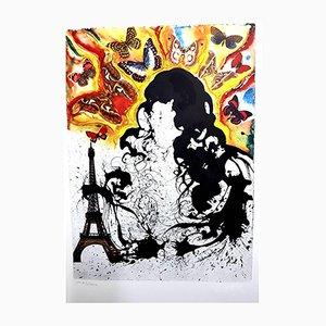 Paris Lithographie von Salvador Dali, 1969