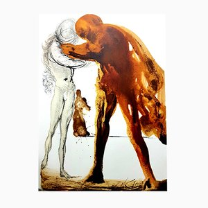 Biblia Sacra Lithograph by Salvador Dali for Rizzoli of Rome, 1969