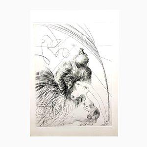 Gravure à l'Eau-Forte Venus in Furs par Salvador Dali, 1968