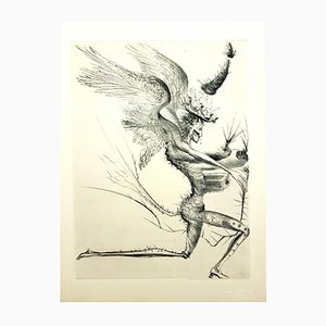 Grabado de la Venus de las pieles de Salvador Dali, 1968