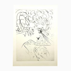 Venus in Furs Etching by Salvador Dali, 1968