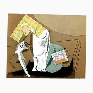 Pochoir mit kubistischem Stillleben von Pablo Picasso, 1962