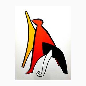 Hinter dem Spiegel Lithografie von Alexander Calder, 1976
