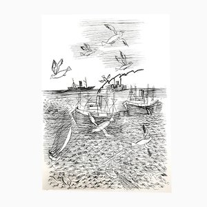 Gravure à l'Eau-Forte Freedom par Raoul Dufy, 1940